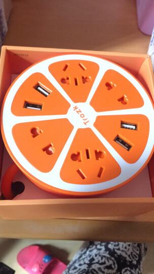 柠檬插座学生宿舍办公室家用接线板拖线板带usb多功能带线多孔插排插线板企业定制 插座-活力橙 柠檬插座 晒单图