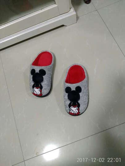 迪士尼(DISNEY) 儿童拖鞋男童女童棉拖鞋秋冬季保暖棉鞋 男童深灰 36-37码脚长230-235mm 晒单图