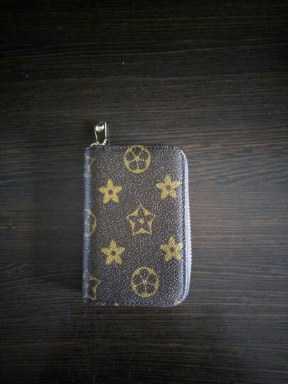 2017新款欧美风琴卡包女式男士风琴卡夹信用卡套小零钱包卡片包潮 啡色花纹 晒单图