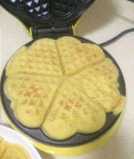 红心(Hongxin)蛋糕机 SW-217H  上海红心多功能家用华夫饼机电饼铛 黄色 晒单图
