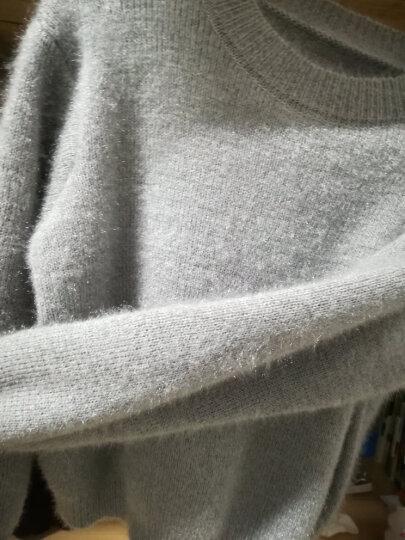 秋季女装新品针织衫女开衫纯色毛绒加厚春秋外套卫衣打底衫长袖t恤毛衣韩版新款披肩上衣宽松短款 灰色毛衣 均码毛衣 晒单图