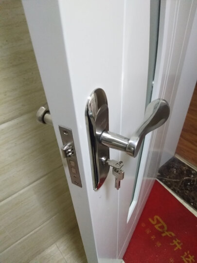 菲享不锈钢室内门锁简约实木卧室套装门锁把手 门锁把手(老师傅强烈推荐) 晒单图