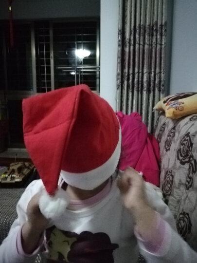 仕彩 圣诞帽儿童大人圣诞老人帽子女圣诞节装饰品宝宝头饰道具小礼物圣诞用品圣诞老人圣诞帽 圣诞帽发光卡通混发1个 晒单图