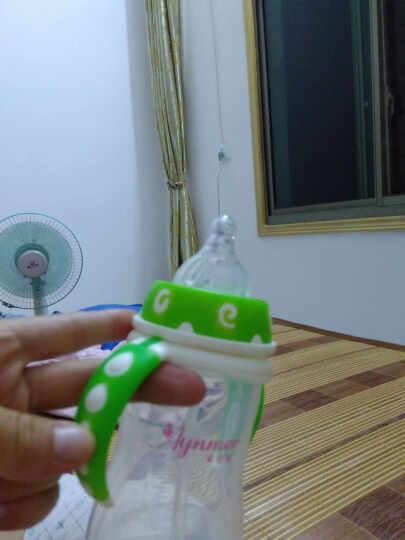 爱因美(aynmer) 爱因美 宽口径奶婴儿塑料奶瓶带吸管手柄 喝水奶瓶带感温防烫功能 绿色 300ml 晒单图