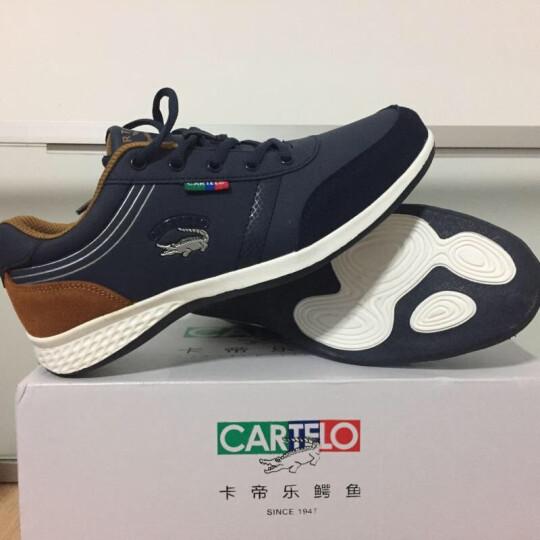 卡帝乐鳄鱼 男鞋休闲鞋2019秋季新款运动鞋子男潮流户外板鞋 深蓝 41 晒单图