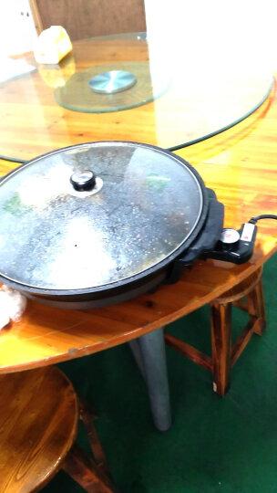 拜杰(BJ) 韩式多功能电热锅电烤锅铁板烧烤肉锅电火锅电蒸锅 炒锅蒸锅汤锅 黑色电煎锅 晒单图