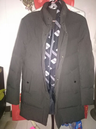 梵太(FANTAI)羽绒服男士连帽中青年保暖冬季可拆卸毛领外套上衣 8817/黑色 L/175 晒单图