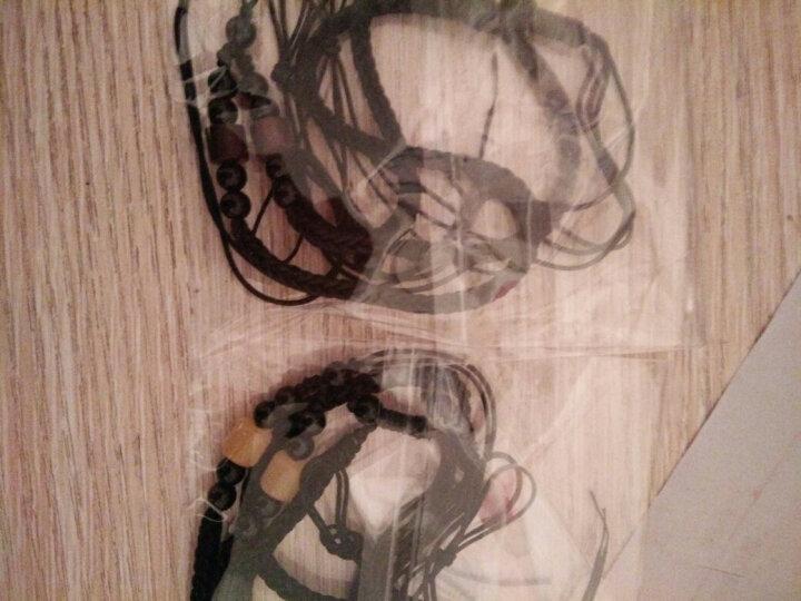 紫檀木男女饰品手工编织黄金翡翠玉佩佛饰吊坠绳挂件绳项链红绳子 仿红珊瑚短圆柱 咖啡绳 晒单图