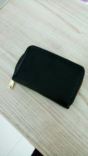 韵歌(Yvongo)名片包真皮女款卡包女士卡套卡片夹拉链名片夹牛皮大容量收纳银行卡卡片包男女通用 黑色 晒单图