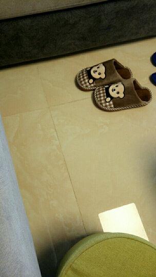 快鹿儿童棉拖鞋大童拖鞋男童女童冬季可爱家居拖鞋室内地板 保暖儿童拖鞋 8845 天蓝色 34/35适合32/33码 晒单图