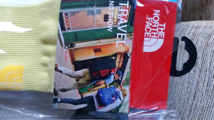 TheNorthFace北面夏季吸湿排汗舒适户外男女通用运动袜|2XY8 XAV/黄色/白色 28~30cm/L 晒单图