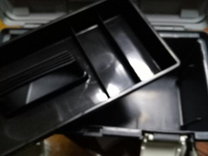 京选(JERXUN)多功能工具箱大号小号维修家用电工维修塑料手提式美术车载收纳盒五金工具箱 加厚灰色塑料工具箱19寸 晒单图