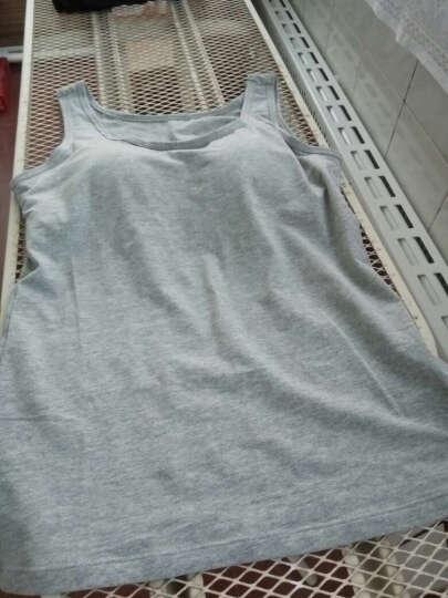 乐迪芬带胸垫吊带背心女打底女士背心纯棉运动纯色无钢圈罩杯文胸一体 麻灰色升级版 M 晒单图