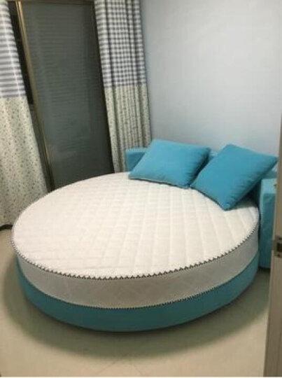 芃芃(PENGPENG) 芃芃家具欧式布艺大圆床双人床小户型婚床圆形床公主床宾馆酒店用床 改颜色规格尺寸或定金拍多量 内径直径2m圆 晒单图