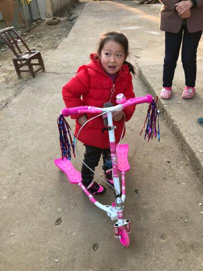 多米儿(duomier) 童滑板车三轮车蛙式滑板车闪光轮可折叠摇摆剪刀扭扭车双后刹 升级款-双刹粉色 晒单图
