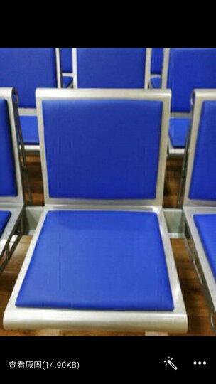 驰界三角款两人位排椅发廊等候椅输液椅长椅美发店沙发茶几排椅 晒单图