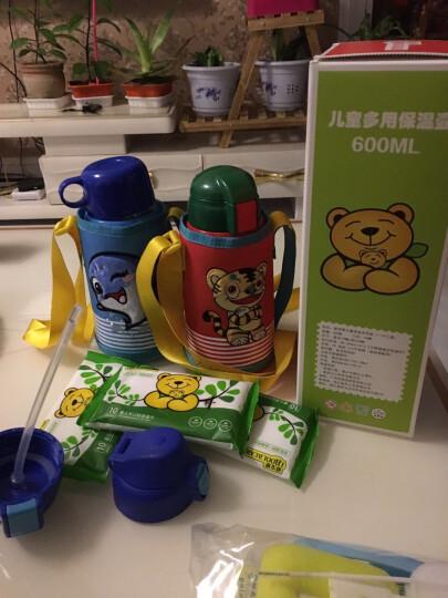 爱宝熊(IBOOLBEAR) 儿童保温杯保温奶瓶带吸管杯儿童水杯防摔便携直饮儿童水壶 红色孙悟空(304不锈钢) 晒单图