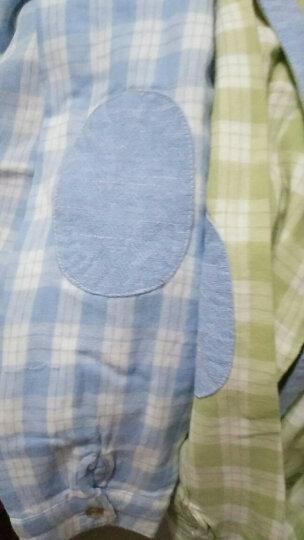 优比小熊(lupupbear) 儿童衬衫男童长袖衬衣春秋装2017新款童装宝宝上衣格子潮 浅绿色 120 晒单图