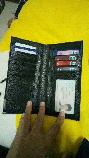 摩登鸟 男士钱包真皮长款钱包 男 韩版牛皮超薄钱包卡包 男钱夹 MD115 经典黑 晒单图