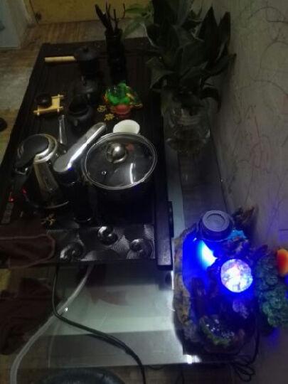 喜度(HIDEG-DAILY) 茶具紫砂陶瓷茶具套装乌金石茶盘全自动电热磁炉整套茶台茶海 09木大全自动+玲珑团花 晒单图
