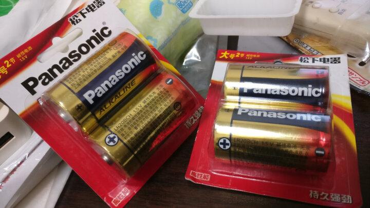 松下(Panasonic)碱性9V方形干电池1节适用于万用表遥控器话筒玩具烟雾报警器无线麦克6LR61TC/1B 晒单图