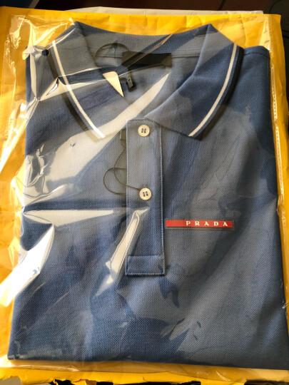 PRADA普拉达 男士翻领短袖Polo衫 100%棉 深蓝色 S 晒单图