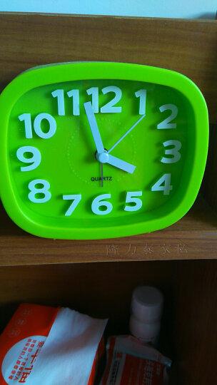 汉时钟表 电子闹钟 学生床头钟卡通桌钟创意儿童小台钟静音懒人闹表石英钟HA07 绿色4寸 晒单图
