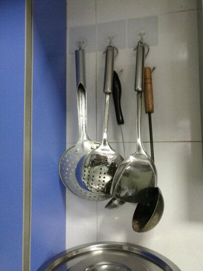 美乐佳 304不锈钢强力挂钩 10个装 免打孔粘胶厨房粘钩承重壁挂浴室瓷砖墙壁粘贴吸盘 晒单图