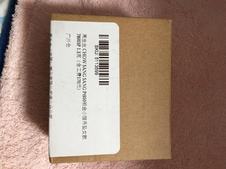 周生生 CHOW SANG SANG Pt950铂金小猫吊坠女款   78003P 1.3克 晒单图