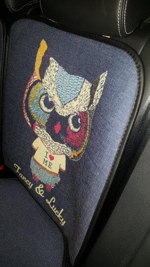 紫风铃汽车坐垫四季通用卡通汽车座垫可爱汽车座套夏季全包围仿亚麻汽车座套凯美瑞起亚帝豪传祺车座椅套KC 大象-豪华版 晒单图
