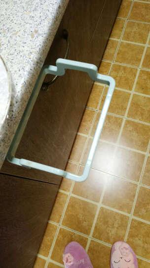 宜莱芙 塑料垃圾袋挂架厨房橱柜门手提袋支架挂钩垃圾袋收纳架子单只装 绿色 晒单图