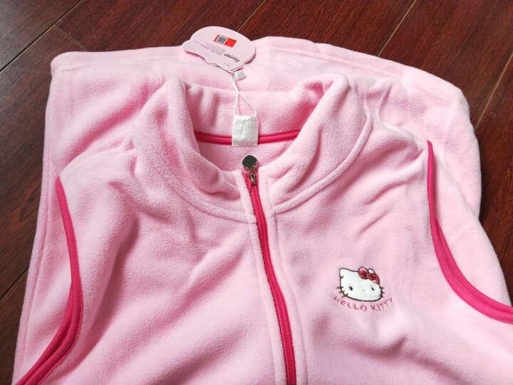 凯蒂猫Hellokitty女童马甲背心摇粒绒宝宝开衫拉链儿童坎肩马夹KT7004粉红色160cm 晒单图