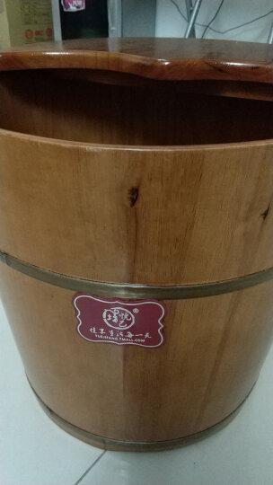 悦己坊 木桶泡脚桶足浴盆橡木洗脚桶34CM带盖洗脚木盆养生桶 晒单图