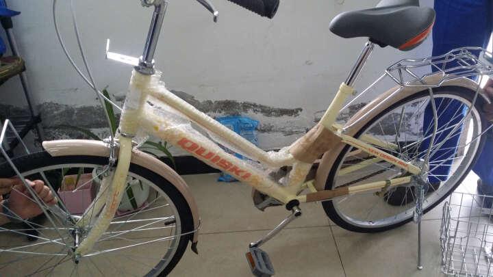 上海quiski快士奇24寸普通女士自行车 淑女公主单车城市休闲 通勤年年终奖团购 雅黄色 晒单图