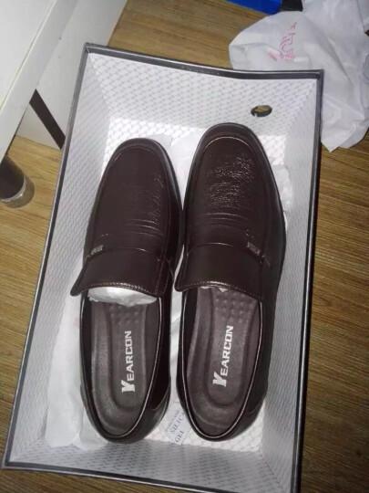 意尔康皮鞋日常休闲男鞋牛皮套脚舒适柔软单鞋6441AA97005W黑色38 晒单图