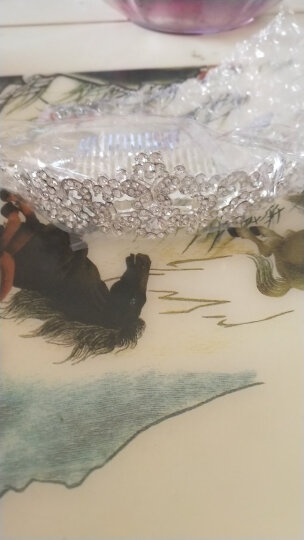 玛诗提娜  新娘皇冠三件套装婚纱饰品头饰结婚礼首饰项链耳环婚庆配饰 G款全套(耳夹) 晒单图