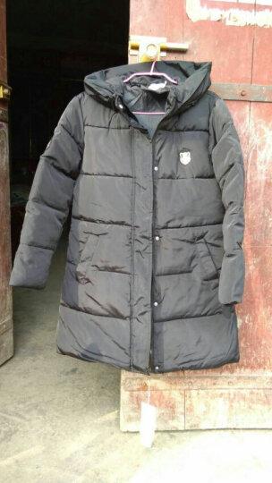 粉艾妮女装外套羽绒服女2018冬季新款韩版修身中长款过膝加厚时尚大码 灰色 XXL 115斤左右 晒单图