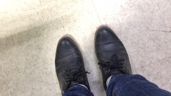 漫步者休闲鞋男 新款英伦男鞋春季新款休闲皮鞋潮流青年板鞋男士隐形内增高鞋子男 6802黑色--单鞋 40 晒单图