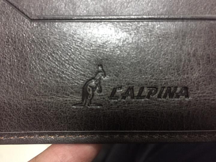 L'ALPINA阿尔皮纳 钱包男短款真皮薄潮多卡位钱夹休闲复古商务男士超薄零钱包 卡其色长款 晒单图