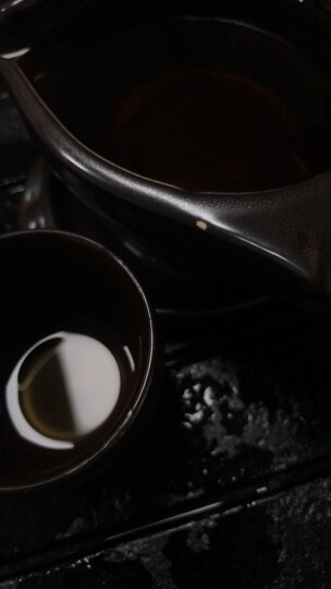 瓷牌茗 石磨半全自动茶具套装创意懒人泡茶器家用茶壶茶杯整套 拉丝沙金天目(龙腾万里)自动茶具 晒单图
