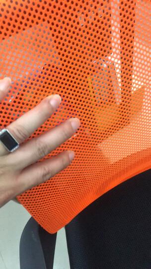 欧奥森 椅子 办公椅电脑椅家用网椅升降旋转会议椅透气老板主播椅学习培训靠背椅人体工学书桌职员弓形凳子 S104-09-橙黑色弓形 晒单图