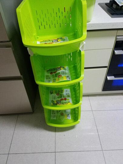 百露 塑料蔬菜水果厨房置物架收纳筐落地多层储物用品用具放菜篮架子收纳架 大号白色四层 晒单图