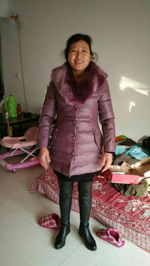 尧艾魅 羽绒服女2017冬季新款韩版修身轻薄显瘦大码女装时尚中长款长外套女 9131 深湖色《无货》 2XL 晒单图