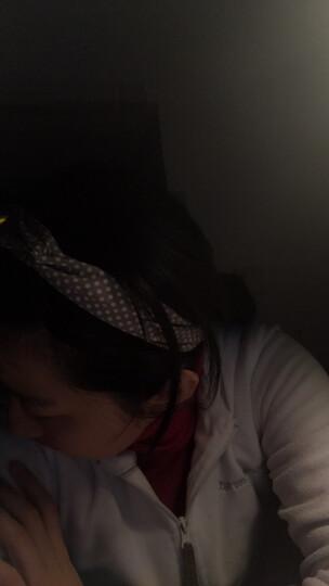 郁香翡 交叉发带韩版时尚发箍头饰布艺宽边瑜伽运动洗脸发带发束发带女 黑色-波点 晒单图