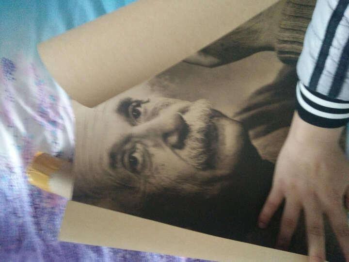 想象力比知识更重要爱因斯坦画像复古牛皮纸装饰画室内酒吧画芯海报墙纸壁画宿舍复古贴纸 A255鬼才与天才 51*35.5cm满9.9海报买1张送1张小的 晒单图