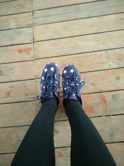 Tt&Mm/汤姆斯帆布鞋2019新款时尚女鞋厚底增高松糕鞋子休闲透气学生平底单鞋女 深蓝(TM737332W) 37 晒单图