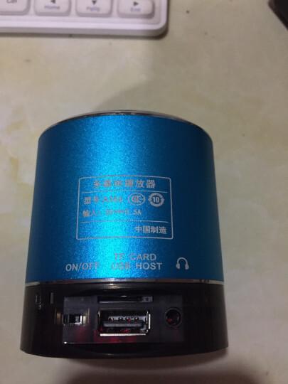 山水(SANSUI)  A38s 蓝牙无线音箱 迷你音响 便携式插卡音箱 收音机手机音乐播放器 蓝色 晒单图
