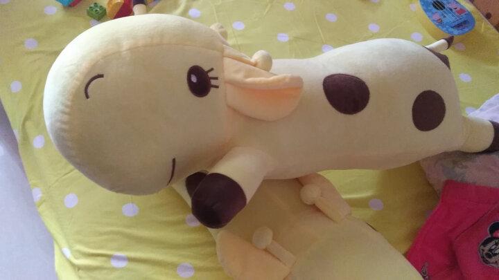 阳光猴 创意可爱长颈鹿公仔抱枕大号靠垫小鹿长抱枕毛绒玩具布娃娃玩偶生日礼物女生 绿色款趴鹿 90厘米 晒单图