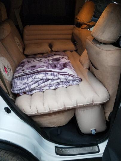沿途车载充气床汽车用后排充气床垫分体式车床自驾游装备汽车旅行床气垫床 分体-米色双护挡带护头挡 晒单图