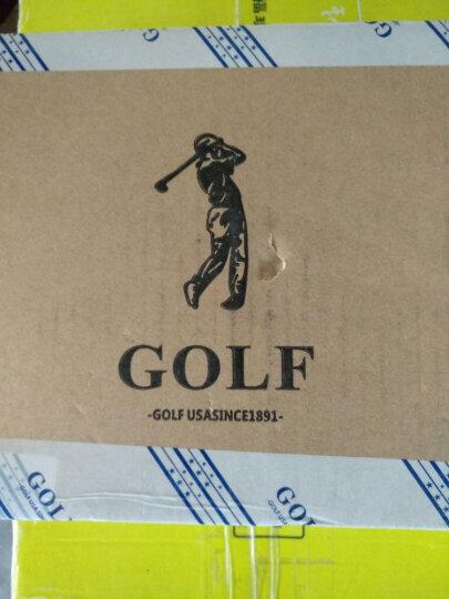 高尔夫GOLF新款牛皮女包单肩包女斜挎包优雅淑女小方包 蓝色 晒单图
